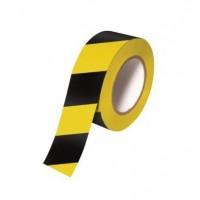 Banda adeziva delimitare avertizare galben / negru 50 mm*33 m