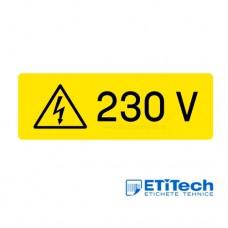 Etichete indicator 230V 88x30mm