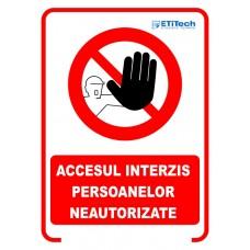 Etichete accesul interzis 100x140mm