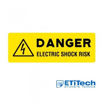 Etichete avertizare risc soc electric 88x30mm