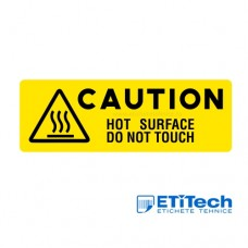 Etichete avertizare suprafata fierbinte nu atingeti 88x30mm