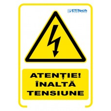 Etichete indicator tensiune inalta 100x140mm