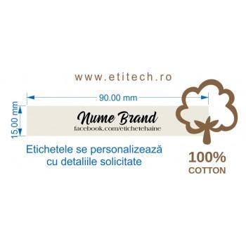 Etichete din bumbac personalizate