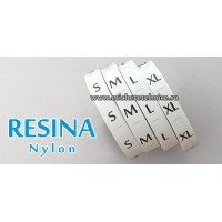 Set etichete textile marimi RESINA nylon 4000buc/set