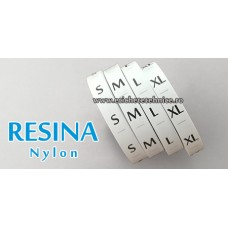 Set etichete textile marimi RESINA (nylon) 2000buc/set
